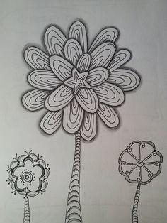 40 Mejores Imagenes De Flores Zentangle Doodles Doodle Drawings Y