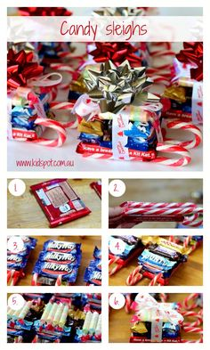 Candy sleighs recipe    You can make these Candy sleighs as gifts for teachers, friends or even just for yourself. They are a fun gift to make with the kids.