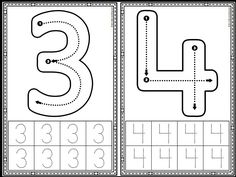Letter Formation: Alphabet and Number Formation Cards Preschool Number Worksheets, Nursery Worksheets, Teaching Numbers, Preschool Writing, Numbers Preschool, Preschool Learning Activities, Kindergarten Math, Kids Learning, Preschool Alphabet