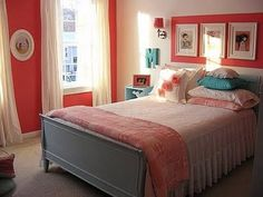 Teen Girl Bedrooms fabulous and dreamy room decor, number 6063775620 - Coooool and creative teen girl room tips. Modern Bedroom Design, Master Bedroom Design, Home Bedroom, Bedroom Decor, Bedroom Ideas, Coral Bedroom, Teen Girl Bedrooms, Little Girl Rooms, Vintage Girls Rooms