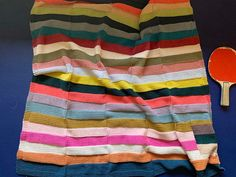 A Quick Stripey Baby Blanket - Modern Daily Knitting Large Blankets, Cotton Blankets, Blanket Yarn, Afghan Blanket, Preparing For Baby, Hand Knitting, Knitting Patterns, Garter Stitch, Knitting Projects