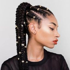 Feed In Ponytail - Best Braided Black Hairstyle Ideas - Best Braided Bla. Feed In Ponytail Feed In Ponytail, Feed In Braid, Hair Styles 2016, Curly Hair Styles, Natural Hair Styles, African Braids Hairstyles, Braid Hairstyles, Hairstyle Ideas, Thin Hairstyles
