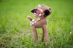Adorable Handmade Plush Deer by Brighteyesshop on Etsy Bright Eyes, Lamb, Deer, Plush, Handmade Gifts, Animals, Etsy, Vintage, Sparkling Eyes