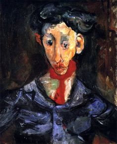 The Athenaeum - The Gypsy (Chaim Soutine - circa Peter liked this artist. Classic Paintings, Contemporary Paintings, Chaim Soutine, Degenerate Art, Modigliani, Portrait Art, Portraits, Jewish Art, Russian Art