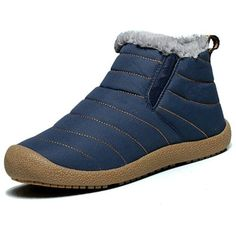 Men boots 2017 winter shoes flat snow boots non-slip warm plush ankle boots bota masculina plus size Light Up Trainers, Mens Snow Boots, Men Boots, Fur Ankle Boots, Boots 2017, Fashion Shoes, Mens Fashion, Warm Boots, Winter Shoes