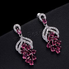 Cubic Zirconia #Micro Pave Brass #Earring http://www.beads.us/product/Cubic-Zirconia-Micro-Pave-Brass-Earring_p259505.html?Utm_rid=194581