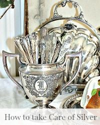 How to Care for & Polish Your Antique and Vintage Silver Want to know how to clean your silver? These are the best tips on How to Care for & Polish Your Antique and Vintage Silver.