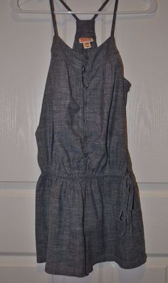 Mossimo Supply Co. Racer Back Chambray Romper Size XS #Mossimo #Romper