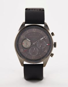 Image 1 of Tommy Hilfiger Chronograph Watch In Black