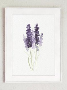 Lavender Flower Painting Canvas Botanical Print Kitchen Wall Decoration. Lavandula Flowering Plant Purple and Green Living Room Decor. Abstract set of 3 Lavender Art Prints Minimalist Watercolour Illustration. A price is for the set of 3 different Lavender Art Prints. In the second