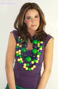 Mardi Gras beads?.... No those are giant gumballs. Tutorial for making these edible necklaces.