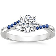 18K White Gold Chamise Ring with Sapphire Accents from Brilliant Earth