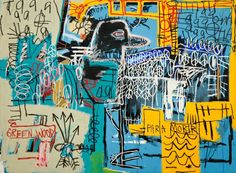 Jean-Michel Basquiat, Bird On Money, 1981, Acrylic and oil on canvas, 66 x 90 in. (167.6 x 228.6 cm)
