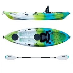 Canoe Storage ** Driftsun Teton 90 Hard Shell Recreational Kayak – Single Person Sit On Top Kayak Package with EVA Seat Paddle Fishing Rod Holders and More *** See the image link more information. (This is an affiliate link). Recreational Kayak, Kayak Accessories, Kayak Paddle, Inflatable Kayak, Sit On Top, Person Sitting, Water Sports, A Team, Touring