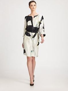 armani collezioni via saks (silk koi dress) (motherwell inspired)