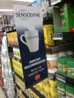 Sensodyne Toothpaste Point-Of-Sale Display