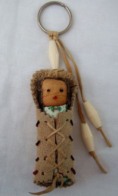 Vintage NATIVE KEYCHAIN / Papoose / by WhiteWolfeNativeArts, $12.00