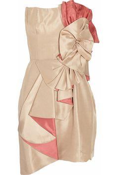Foley + Corinna Rosette-embellished silk dress