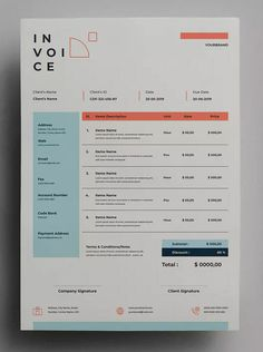 AFR - Invoice by adilbudianto on Envato Elements Layout Design, Form Design, Chart Design, Print Design, Invoice Design Template, Invoice Template, Invoice Layout, Portfolio Web, Visual Identity
