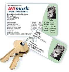 Have your pets vaccine history hand in your wallet. Contact us about purchasing your pets Pet ID