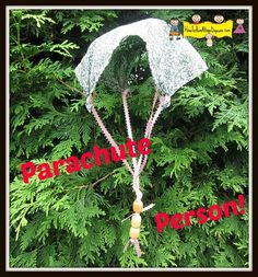 DIY Parachute Toy Quick and Easy toy to make that creates hours of summer fun!
