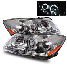 11-12 Buick Regal LED Strip CCFL Halo Projector Headlights - Chrome