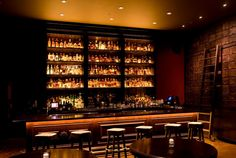 similarly lit bar with no hanging pendants for illustration purposes of clean visual Lounge Design, Bar Lounge, Restaurant Concept, Restaurant Bar, Cowboys Bar, Whiskey Room, Easy Bar, Pub Interior, Interior Design