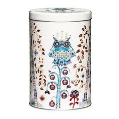 Iittala Taika Metal Tin Round Storage Box Storage Container White x cm