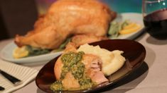 The Chew's Roast  Chicken  with Salsa Verde and Creamy Potatoes