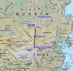 map for tunguska blast