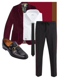 """Pai-Han Evening Wear 2"" by theogm on Polyvore featuring Gucci, Brioni, Yves Saint Laurent, men's fashion and menswear"