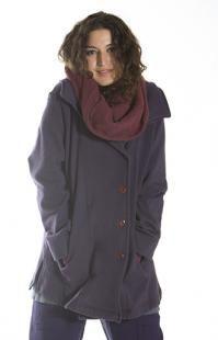 hiding, shelter - Comfy Fleece Pea-Coat UnPrinted