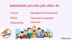 The best naukri job search site to find the latest jobs in India. IOJ, The job site in India offers free job posting and free recruitment tools. Job Search, Free Job Posting, Best Online Jobs, Chartered Accountant, Job Portal, Job Opening, Job Offer, New Job