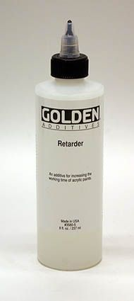Golden Retarder- Slows drying in acrylic paints and reduces skinning on the palette. Useful in 'wet in wet' techniques.