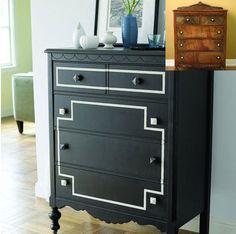 diy dresser redo. black & grey though