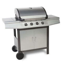 FirePlus 4 0 Gas Burner Grill BBQ Barbecue - Silver