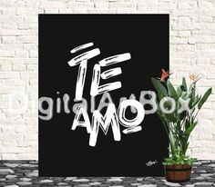 Te amoLast minute giftPrint it outi Love You by DigitalArtBox