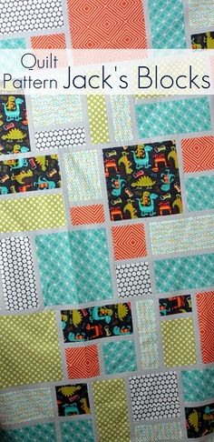 favorite beginner quilt pattern for large-scale prints - perfect for kids bedrooms!