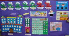 Plastificando ilusiones: Asamblea Bilingual Classroom, Classroom Labels, Classroom Decor, Calendar Board, Door Displays, Becoming A Teacher, Class Decoration, Reggio Emilia, Classroom Management