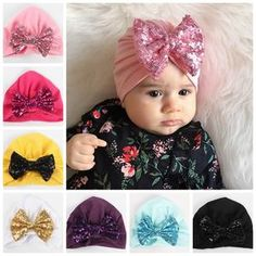 Our Anaya Turban Hat is perfect for those little girls just getting some hair in or have long hair. In stock and ready to Ship Attached on a soft band Choose from all 10 colors Material is Nylon + Polyester Cute Dresses, Girls Dresses, Pink And Gold, Purple, Turban Hat, Head Accessories, Black N Yellow, Kids Wear, Little Girls