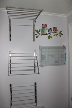 Fold out racks. Outdoor Laundry Rooms, Small Laundry Rooms, Laundry Room Storage, Laundry Room Design, Laundry Hanger, Dirty Kitchen, Laundry Room Inspiration, Laundry Room Remodel, Clothes Drying Racks