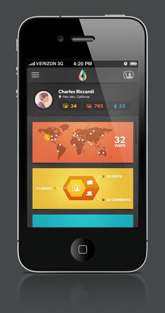20 Examples of Android & iOS UI Design Inspiration | Part #4 / #Fiscus using cards? dark background