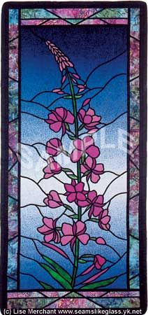 "Fireweed, Wow!  I have this (48"" long) paper pattern someone drew for a rendition in stained glass!  The ""perfect"" petal color I've chosen is a French, flash-fired art glass at $90 per square foot, but fortunately, it ONLY takes a little bit!  I will definitely pin a photo of it when it's completed."