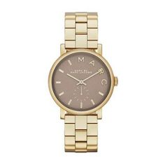 Marc by March Jacobs Baker Gold Tone Grey Dial Watch -- See this great product.Note:It is affiliate link to Amazon.