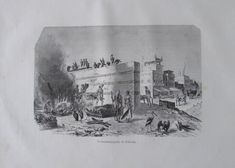 aus 1880 Verbrennungsplatz in Calcutta, Indien - alter Druck old print