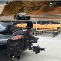 When you see how record the Bugatti Chiron #toyota #supra #mkiv
