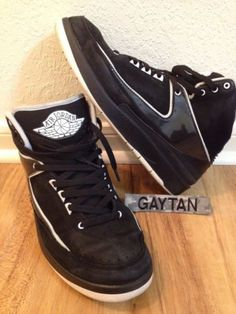 90e4ef085ee3b2 2010 Nike Air Jordan 2 II Retro QF Black White Sz 10.5 Used No Box Kicks