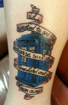 Tattoo sweets tattoo tardis tattoo time lord tattoo quotes doctors doctor who tattoos Fandom Tattoos, Nerdy Tattoos, Cool Tattoos, Pretty Tattoos, Bookish Tattoos, Gorgeous Tattoos, Unique Tattoos, Time Tattoos, Body Art Tattoos