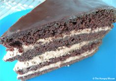 Chocolate Stout Layer Cake at The Hungry Mouse - recipe by Hubert Keller