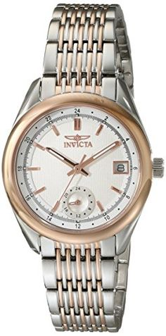 Women's Wrist Watches - Invicta Womens 18066 Specialty Analog Display Swiss Quartz Two Tone Watch ** For more information, visit image link. (This is an Amazon affiliate link)